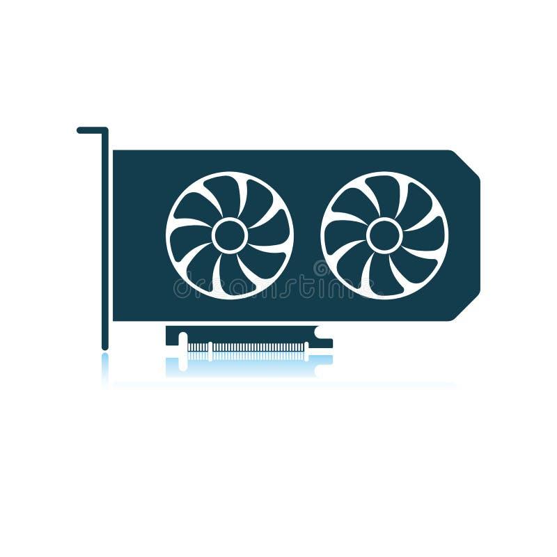 Gpu ikona royalty ilustracja
