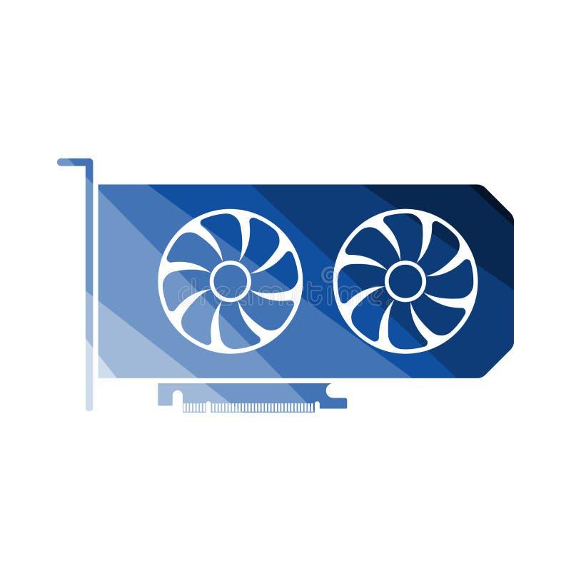 Gpu ikona ilustracji