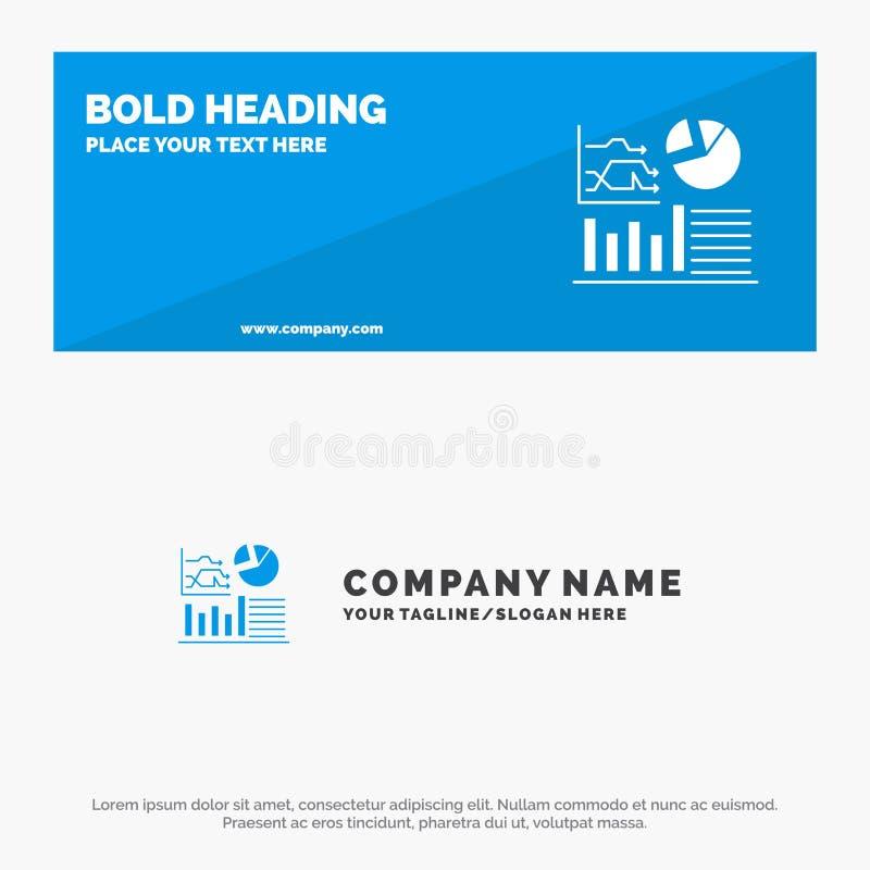 Gráfico, éxito, organigrama, bandera sólida y negocio Logo Template de la página web del icono del negocio stock de ilustración