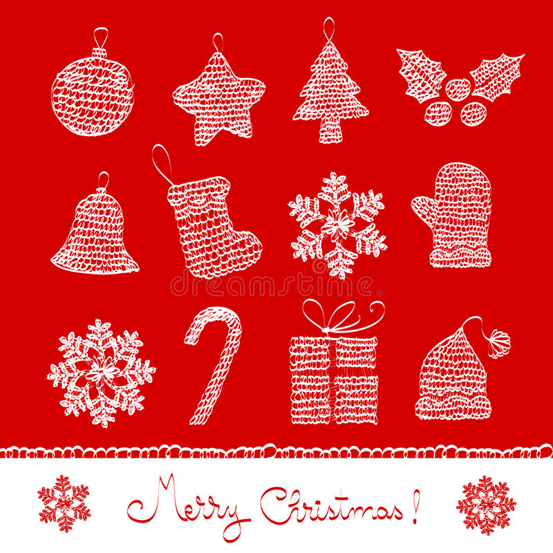 Gráfico 03 de la Navidad ilustración del vector