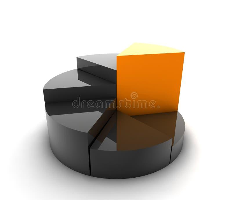 gráfico 3d ilustración del vector