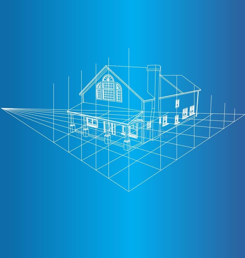 Gráfico 3D De La Casa Fotografía de archivo libre de regalías