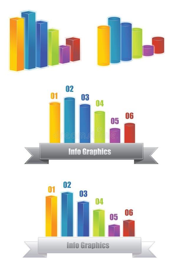 Gráfico 3D del Info stock de ilustración