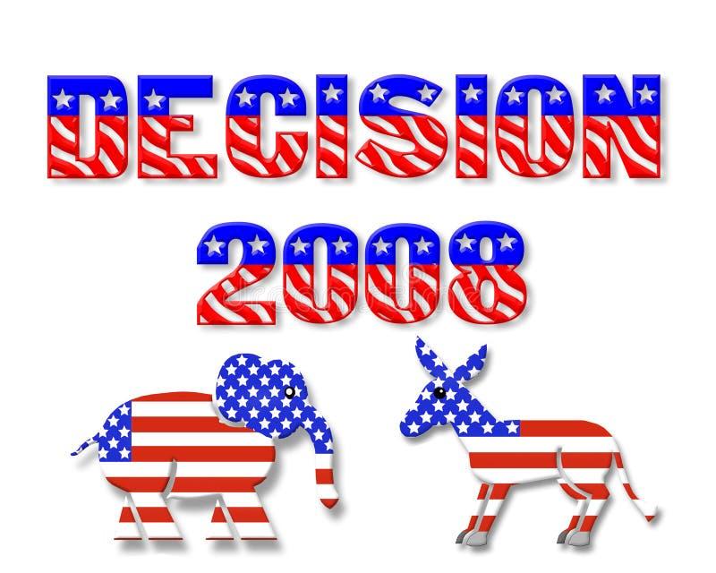 Gráfico 3D do dia de eleição 2008 ilustração royalty free