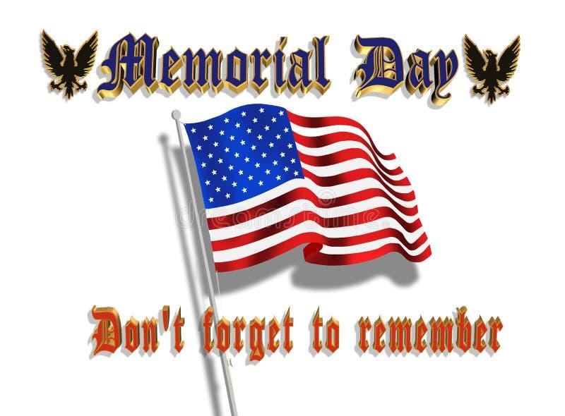 Gráfico 3D do Memorial Day ilustração royalty free