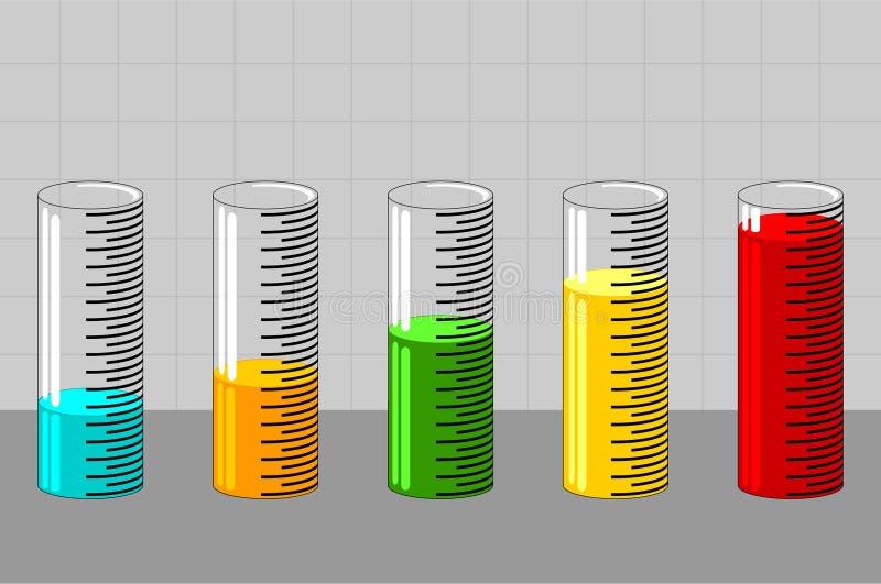 Gráfico 6 stock de ilustración