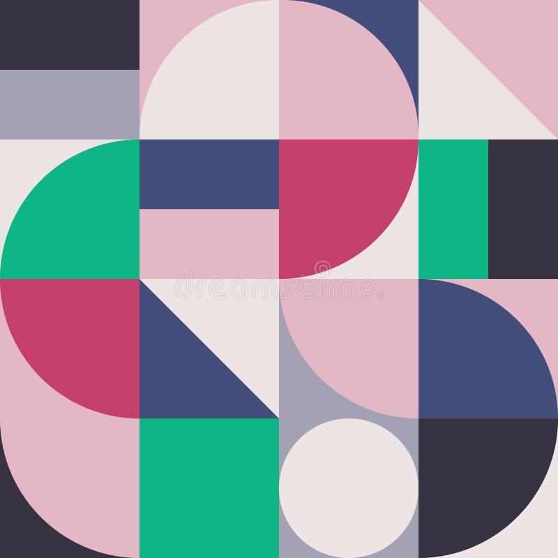 Gráfico abstracto 01 del modelo de la geometría ilustración del vector