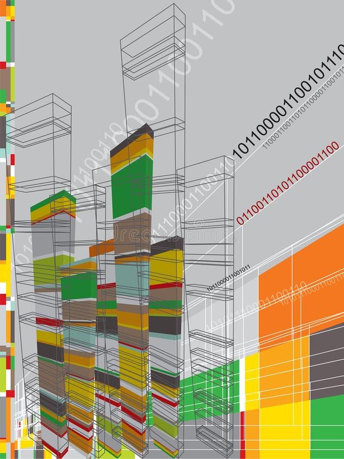 Gráfico abstrato da arquitetura ilustração stock