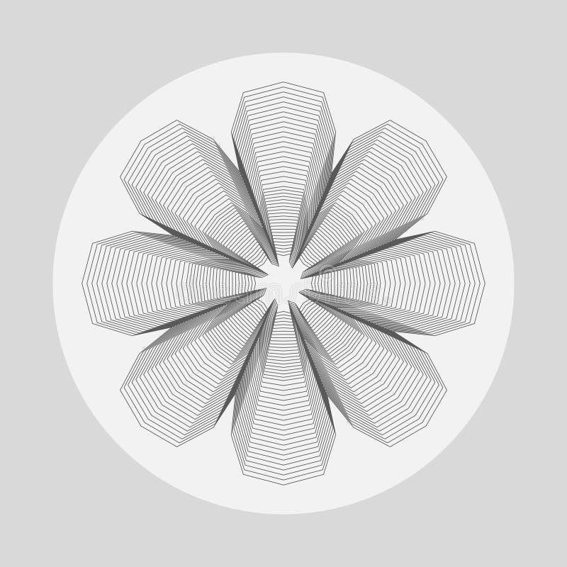 Gráfico abstrato da forma da flor ilustração stock