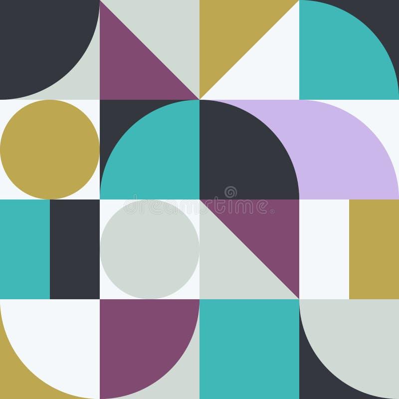 Gráfico abstrato 02 do teste padrão da geometria ilustração royalty free