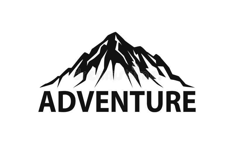 Gráfico aislado logotipo del ejemplo del vector de la silueta de la montaña ilustración del vector