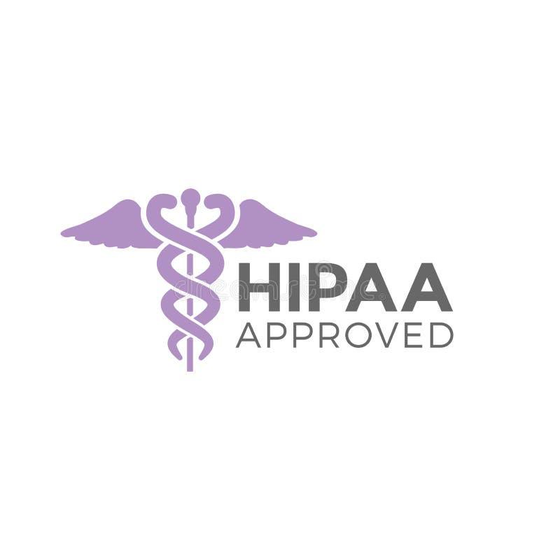 Gráfico aprovado do ícone da aprovação ou da conformidade de HIPAA ilustração stock