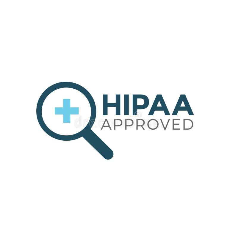 Gráfico aprovado do ícone da aprovação ou da conformidade de HIPAA ilustração do vetor