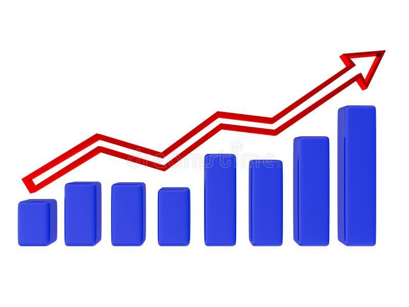 Gráfico azul ilustración del vector