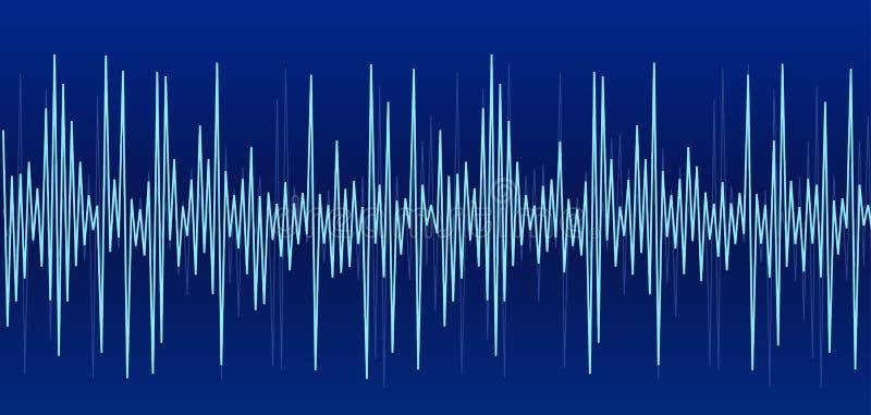 Gráfico azul de los sonidos stock de ilustración
