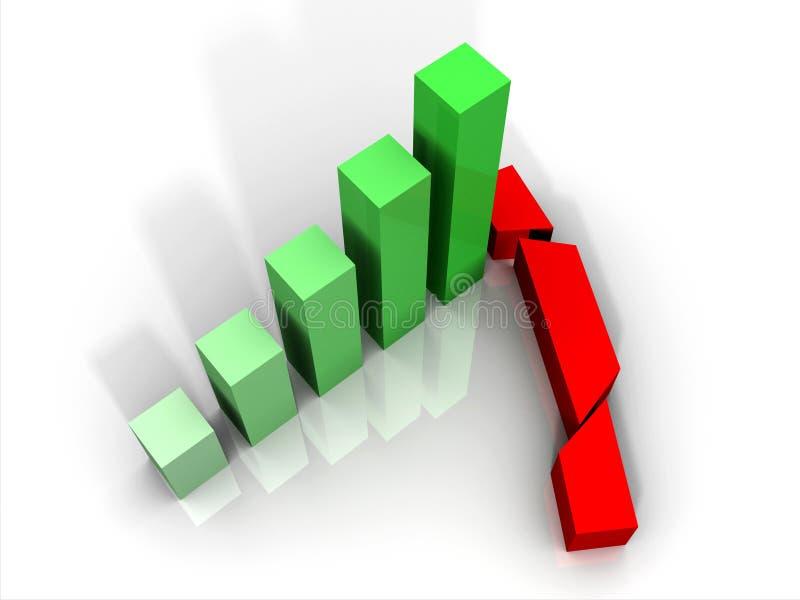 Gráfico causado um crash ilustração do vetor