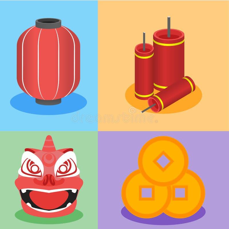 Gráfico chino del elemento en estilo plano del diseño libre illustration