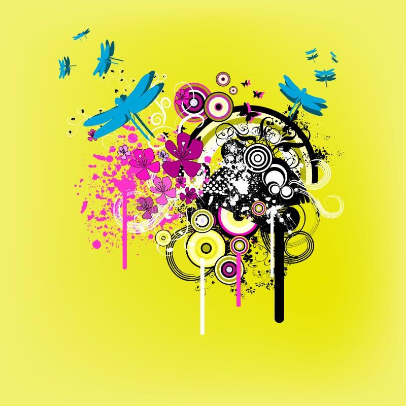 Gráfico cobarde amarillo de la naturaleza ilustración del vector