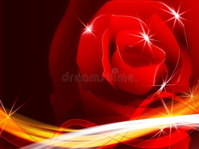 Gráfico color de rosa chispeante stock de ilustración