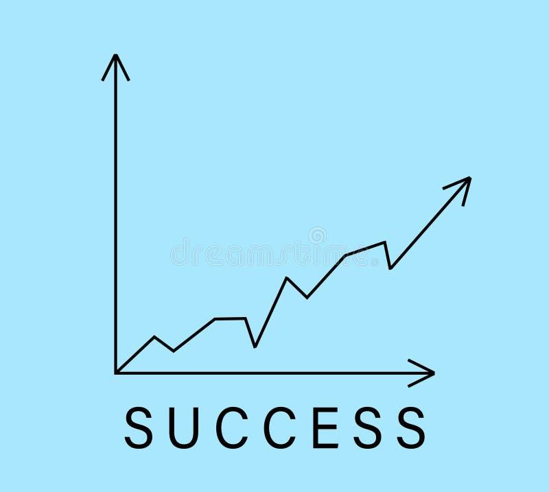 Gráfico com curva de aumentação Gr?fico do sucesso imagens de stock royalty free