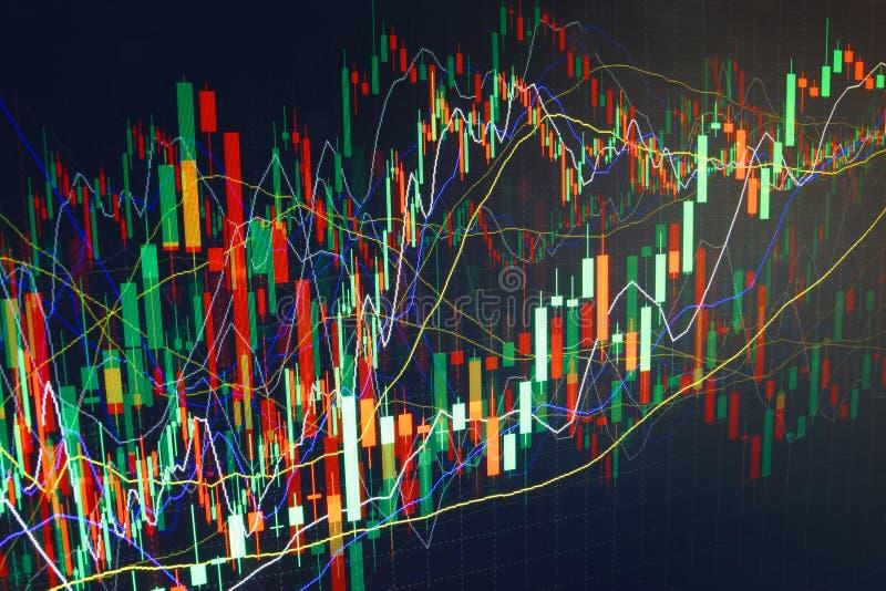 Gráfico comercial de las finanzas. Gane y crezca el dinero stock de ilustración