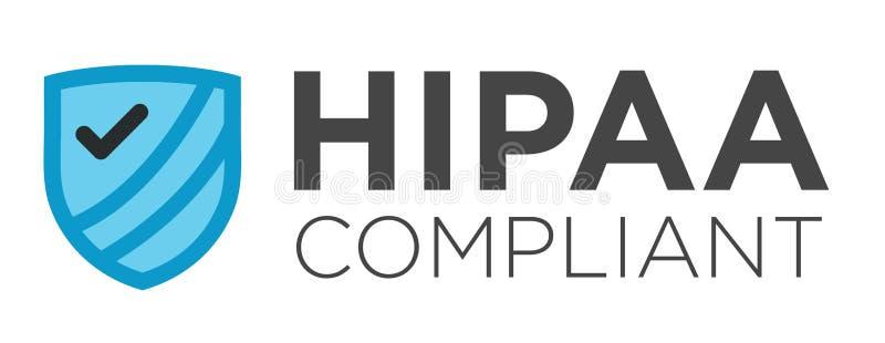 Gráfico complacente de HIPAA ilustração do vetor