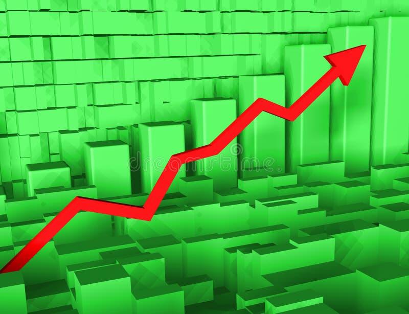 Gráfico con la flecha imagen de archivo libre de regalías