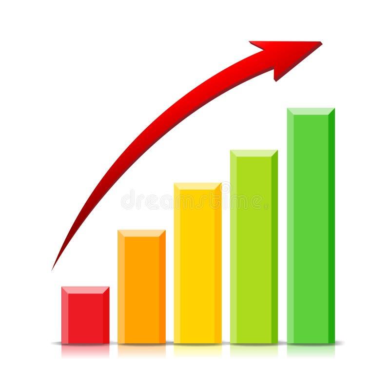 Gráfico crescente ilustração stock