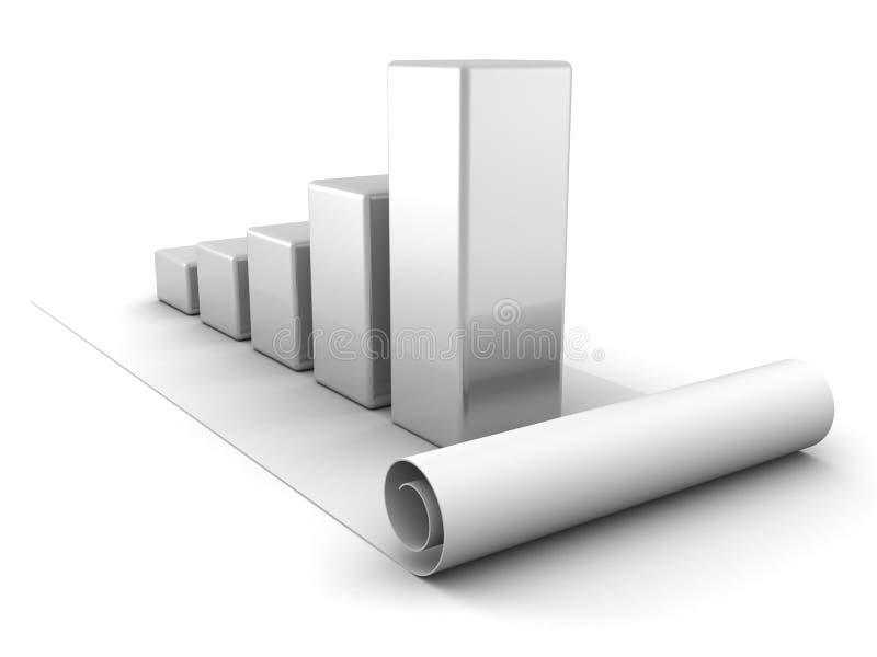 Gráfico crescente do sucesso de Bussiness no branco ilustração stock