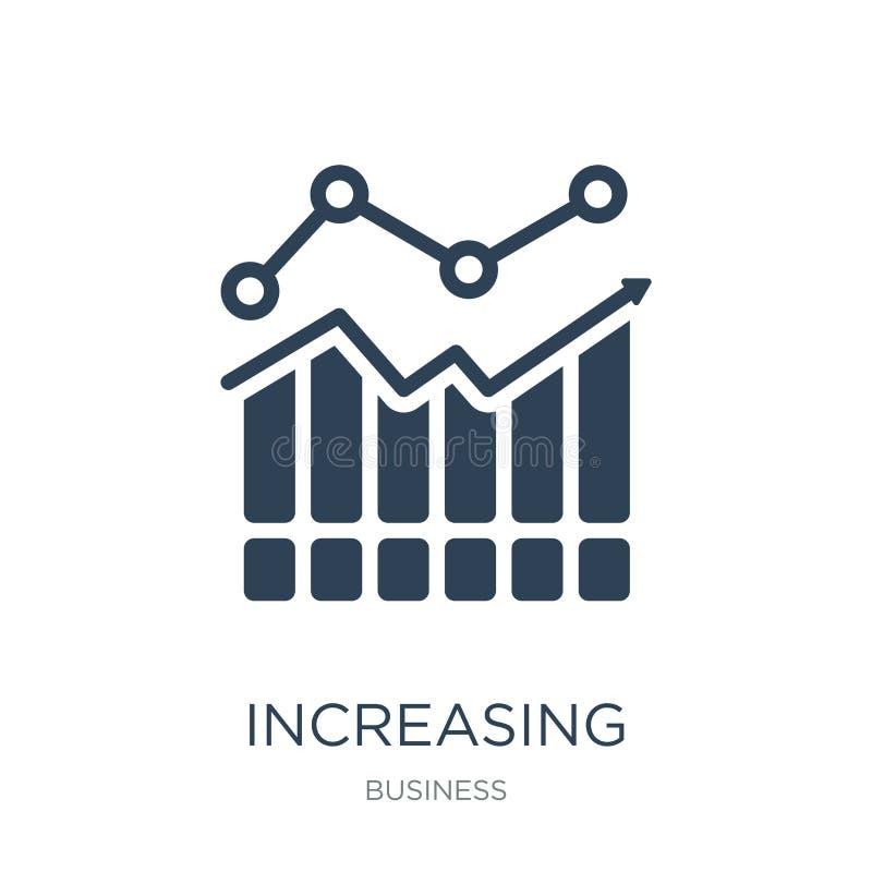 gráfico crescente dos estoques do ícone das barras no estilo na moda do projeto gráfico crescente dos estoques do ícone das barra ilustração royalty free