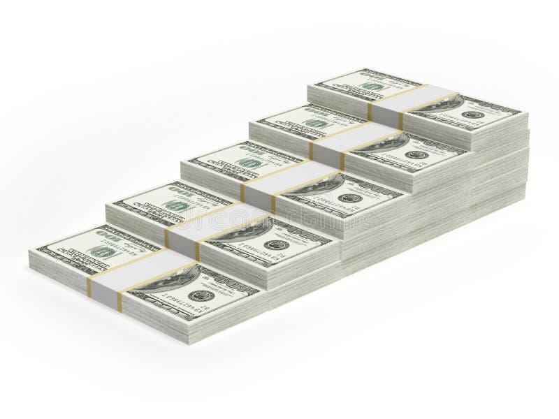 Gráfico da carta de barra do dólar do conceito ilustração royalty free