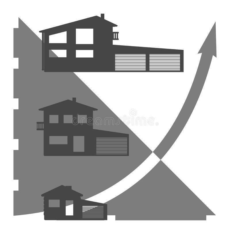 Gráfico da casa foto de stock