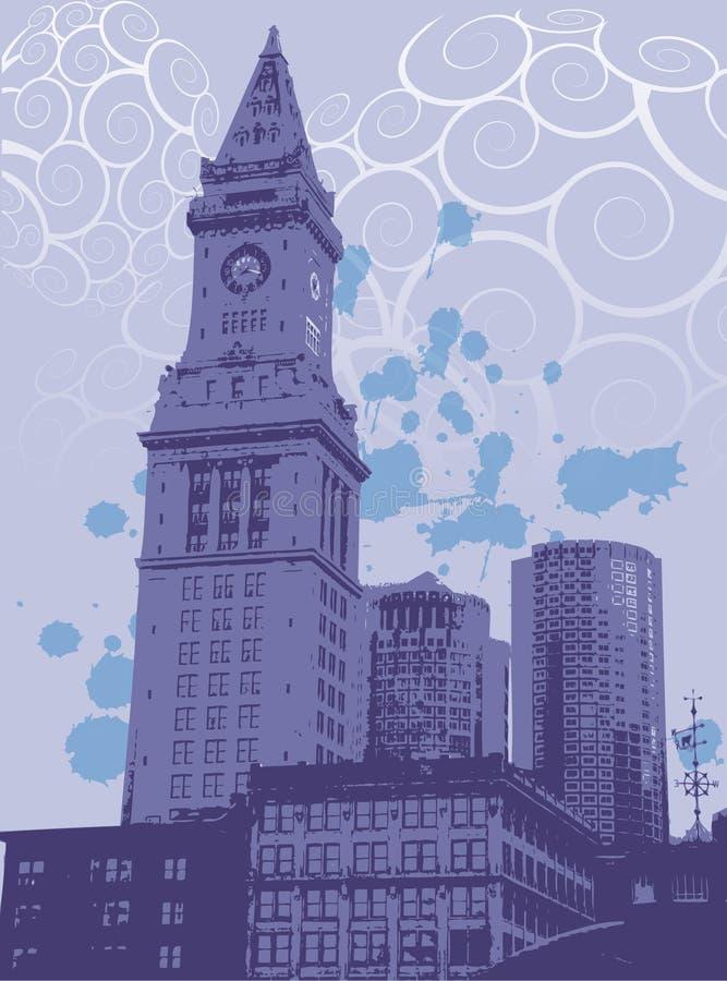 Gráfico da cidade urbana ilustração do vetor