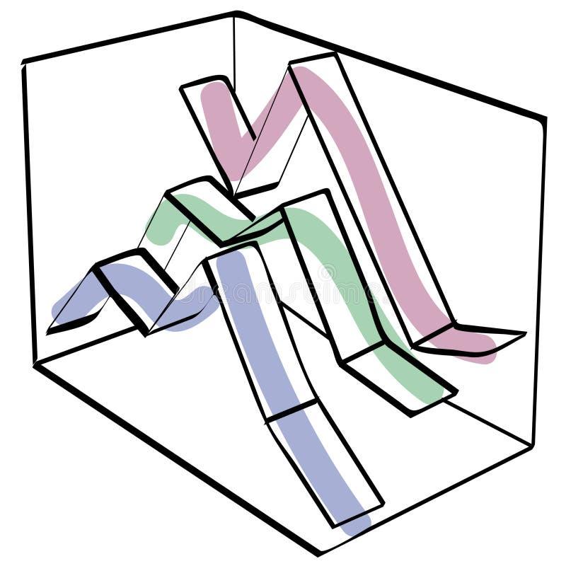 Gráfico da cor ilustração do vetor