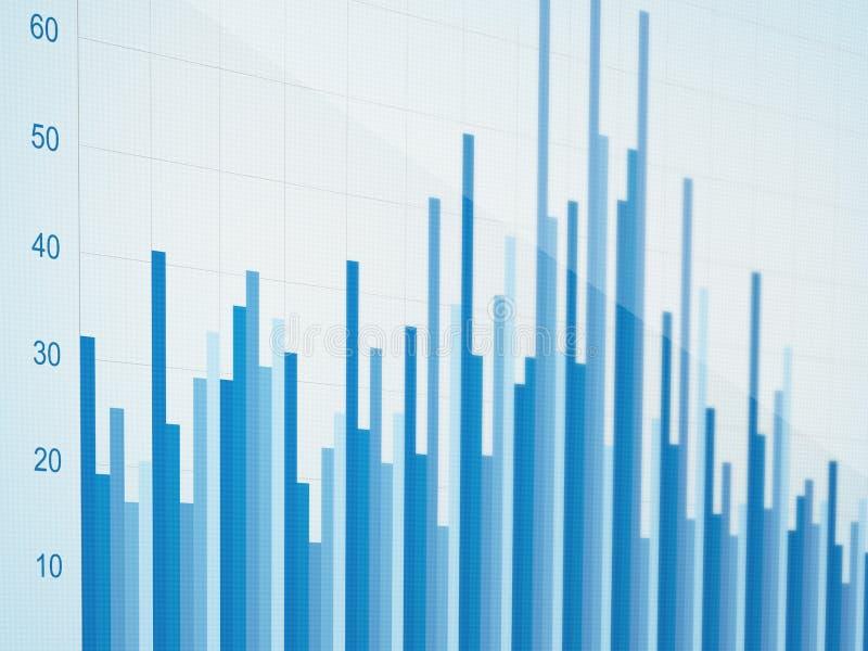 Gráfico da evolução do negócio fotografia de stock royalty free