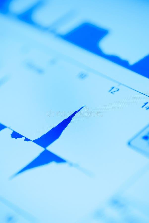 Gráfico da função no monitor fotos de stock