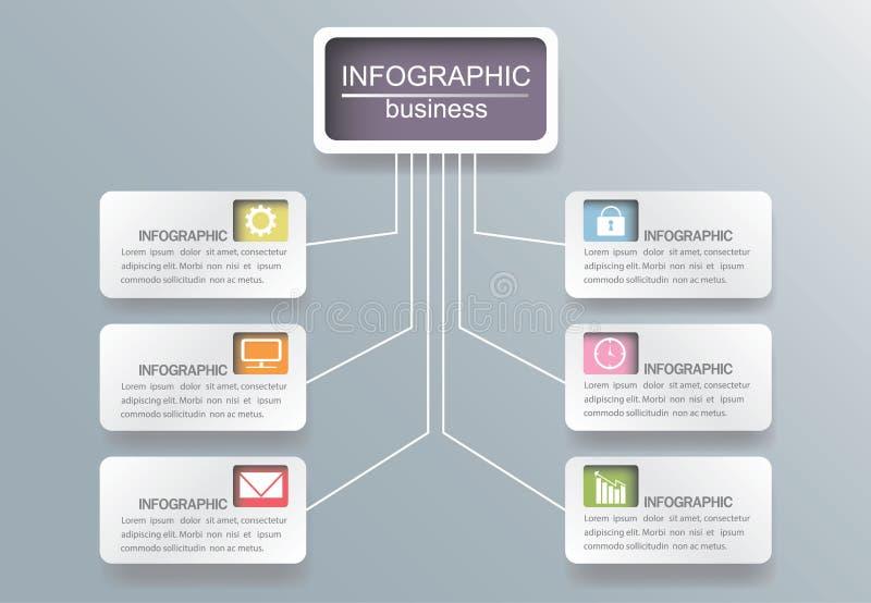 Gráfico gráfico da ilustração do vetor do molde da informação do negócio sobre ilustração royalty free