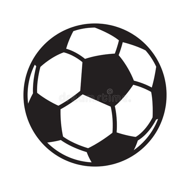 Gráfico da ilustração dos desenhos animados do símbolo do ícone do logotipo do vetor da bola de futebol do futebol ilustração royalty free