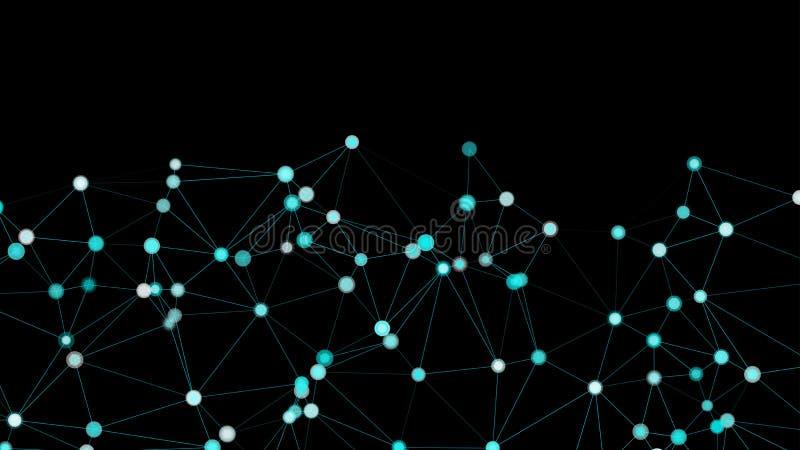 Gráfico da rede neural, formas dos triângulos e elementos do vetor dos círculos ilustração do vetor
