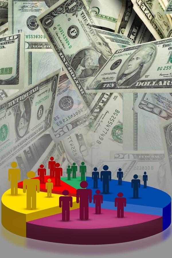 Gráfico das vendas do mercado ilustração royalty free