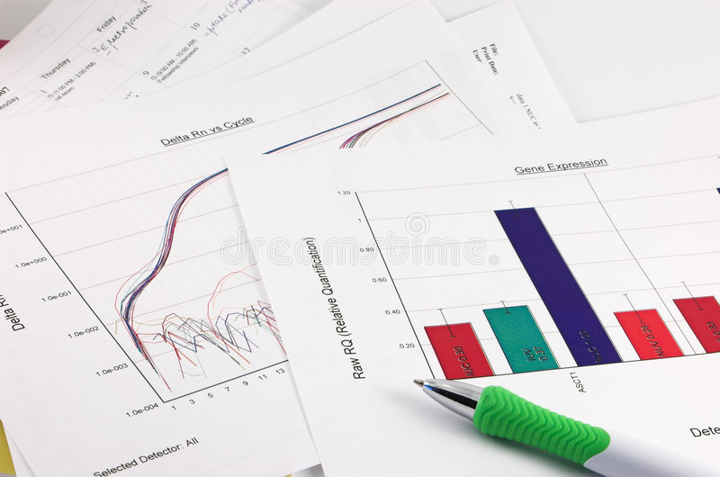 Gráfico, datos científicos, pluma fotos de archivo