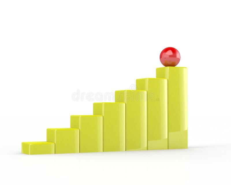gráfico de asunto 3d stock de ilustración