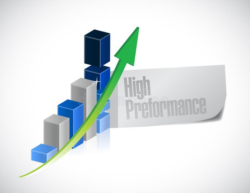 Gráfico de asunto ejemplo del alto rendimiento ilustración del vector