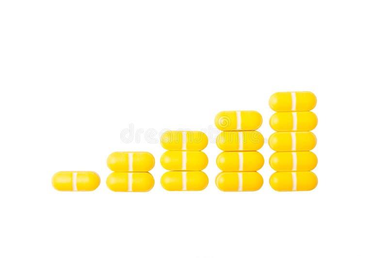 Gráfico de aumentação dos comprimidos fotos de stock royalty free
