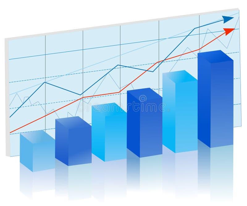 Gráfico de barra ilustração do vetor