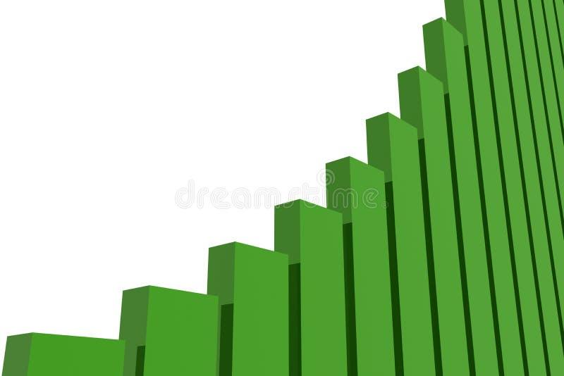 Gráfico de barra ilustração stock
