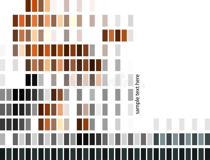 Gráfico de barra abstrato do pixel ilustração do vetor