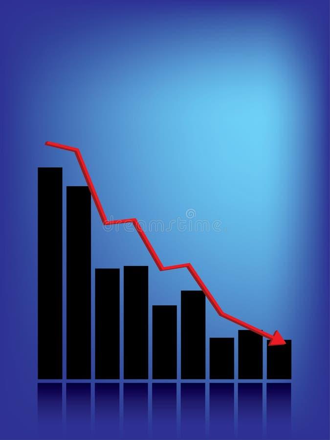 Gráfico de barra da retirada ilustração royalty free
