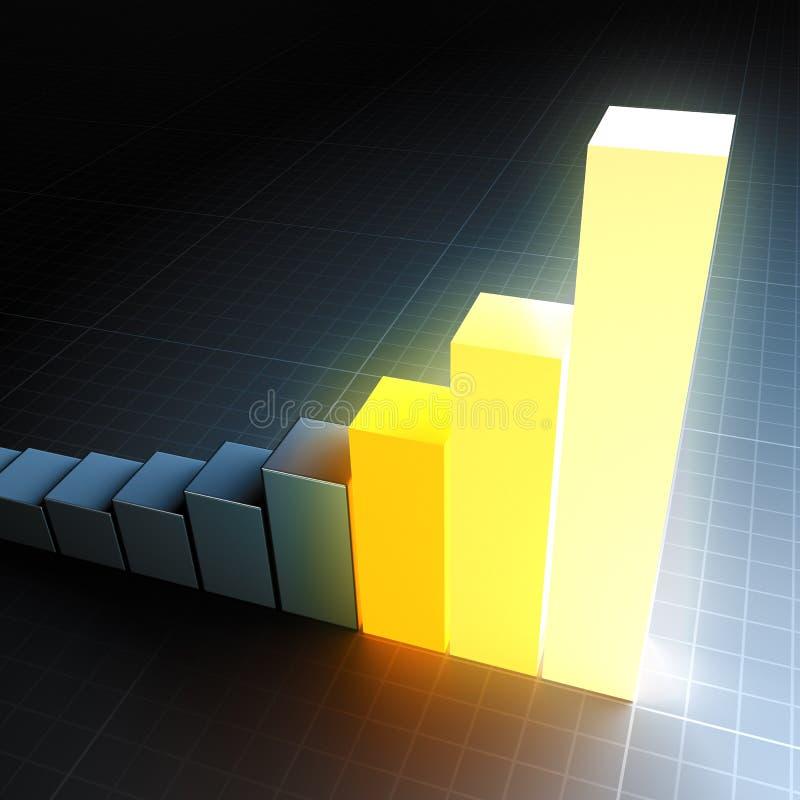 Gráfico de barra de incandescência ilustração stock