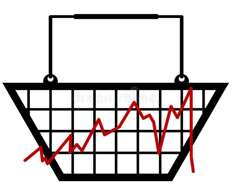 Gráfico de barra de varejo ilustração do vetor